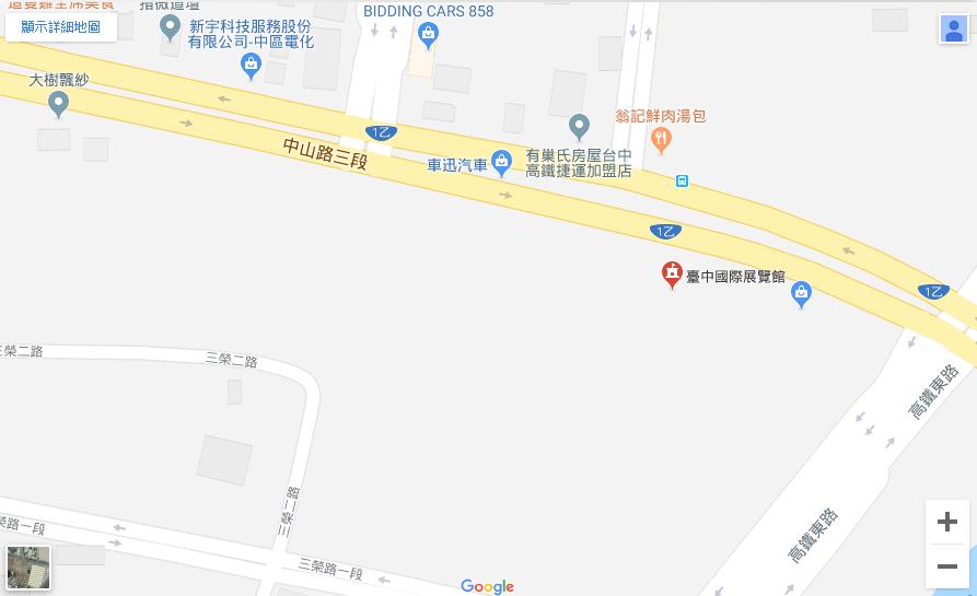 大台中國際會展中心位置圖