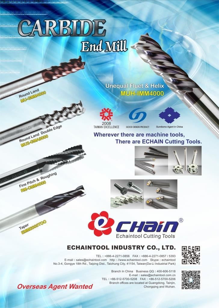 Carbide end mill EDM 2018, Effective milling tools,