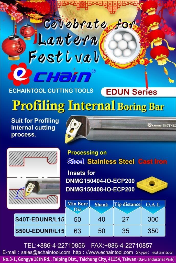 EDUN series Profiling Internal Boring Bar