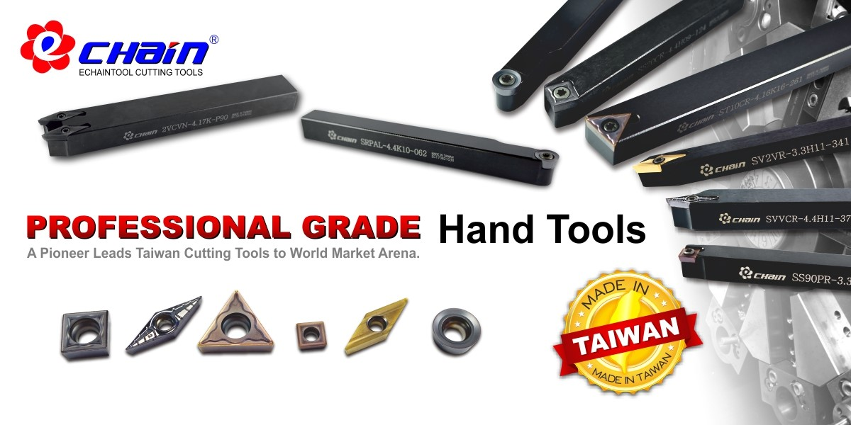 External turning tools for manufactured hand tools
