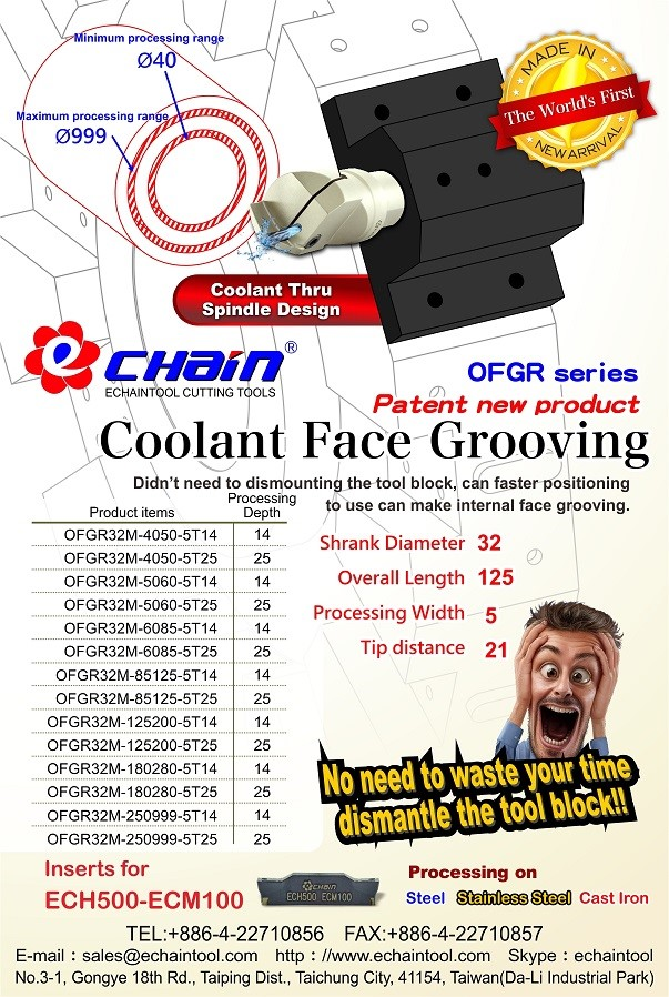 OFGR_Coolant_Face_Grooving_Holder