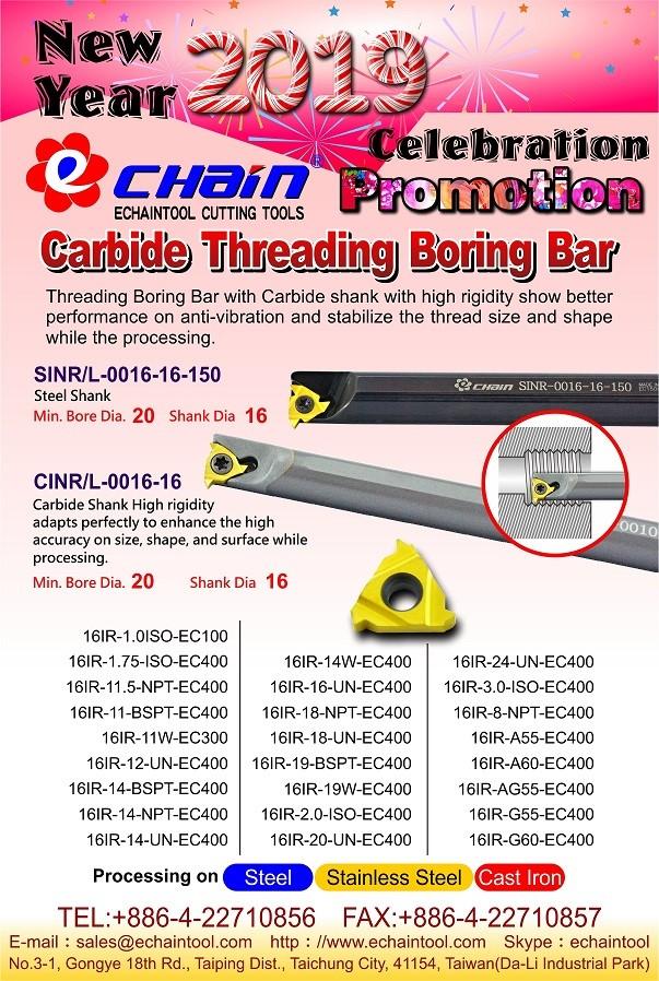 CINR Carbide Internal Threading Boring Bar