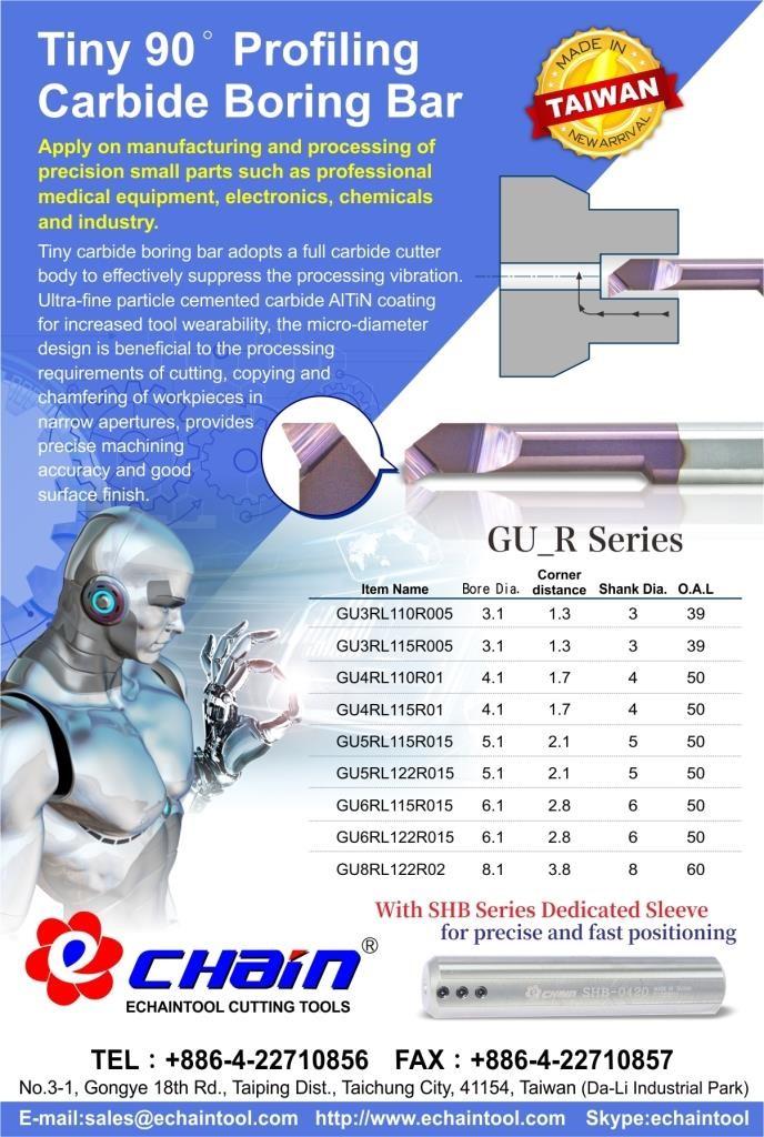 Tiny Profiling Carbide Boring Bar 90° GU_R series